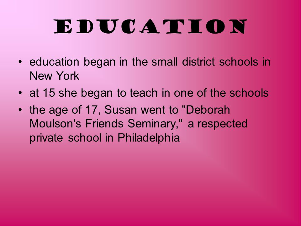 Education education began in the small district schools in New York