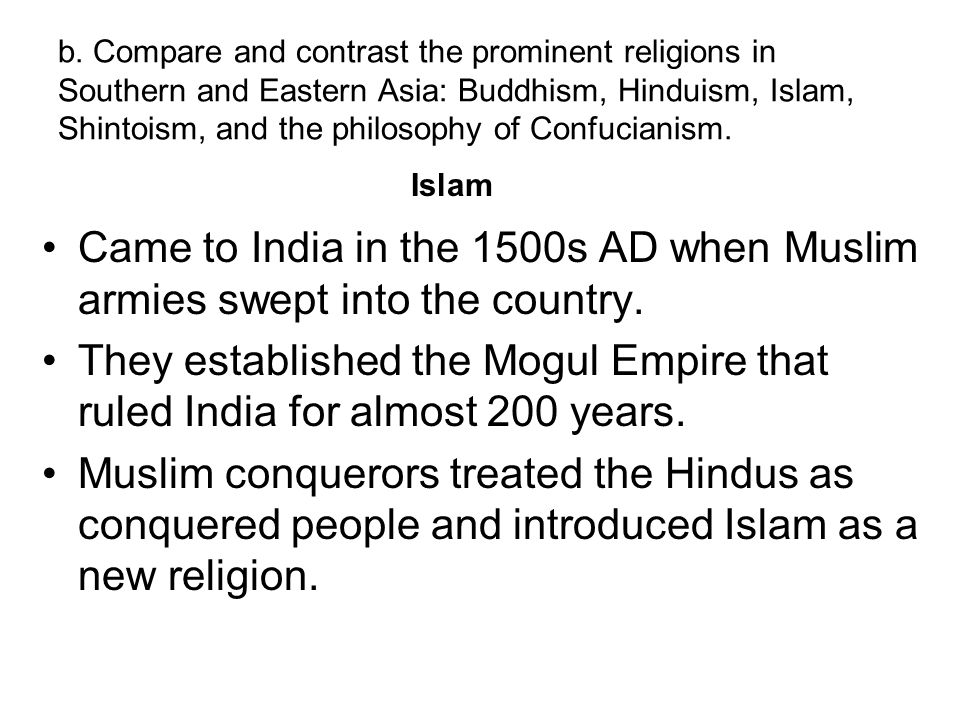 comparative religion eastern hinduism buddhism and taoism Dharmic religions have a great importance in indian philosophy and religions, and taoic religions originate from the far eastern, often in china or india christianity, islam, and judaism are in the abrahamic category hinduism, buddhism, jainism, and sikhism are all dharmic religions, where taoism, confucianism, and shintoism are taoic religions.