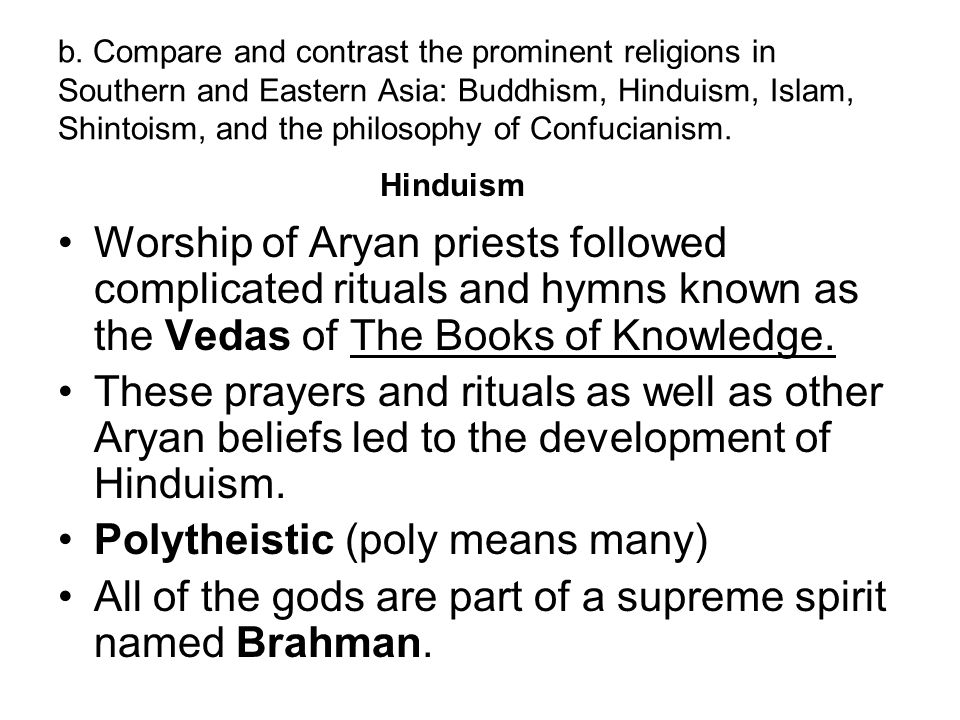 Polytheistic (poly means many)