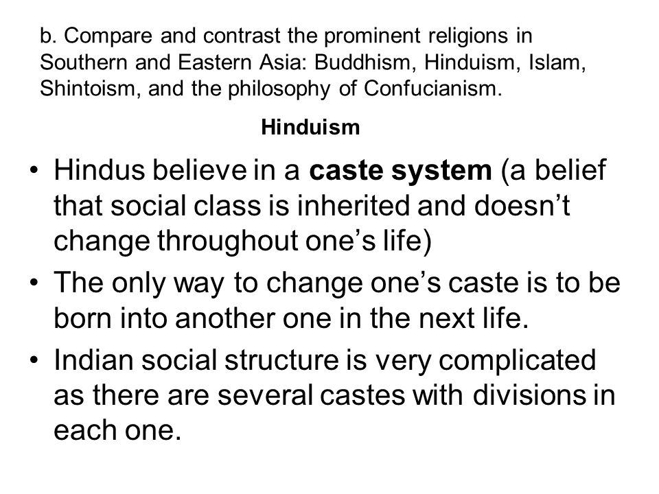 compare and contrast hinduism and islam Major religion (christianity, islam, buddhism, hinduism, judaism) concepts from chapter 6 religions of the ap human geography rubenstein text doe.