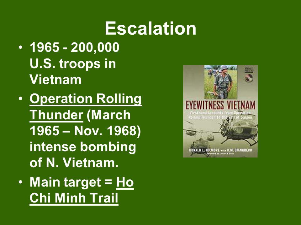 Escalation 1965 - 200,000 U.S. troops in Vietnam