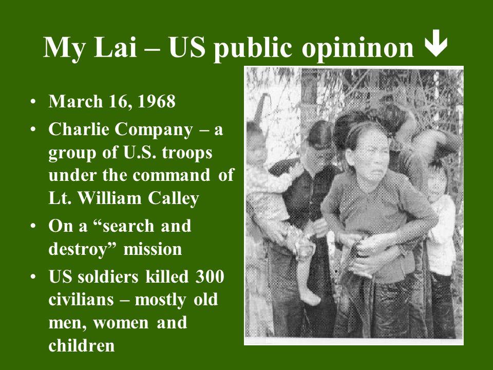 My Lai – US public opininon 
