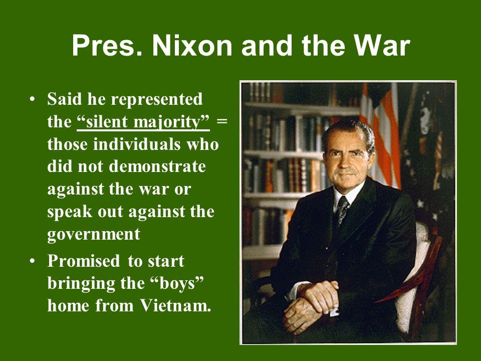 Pres. Nixon and the War