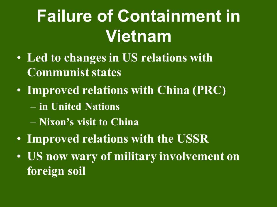 Failure of Containment in Vietnam