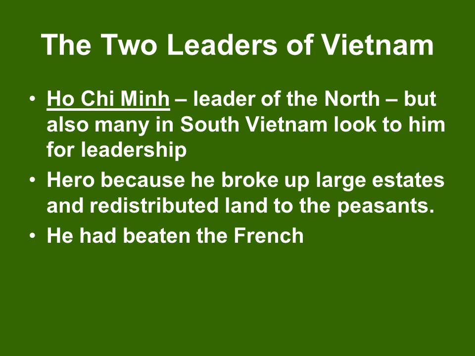 The Two Leaders of Vietnam