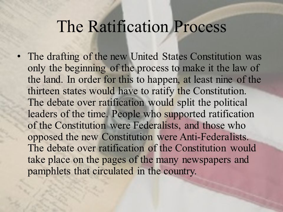 the constitutional debate over state vs