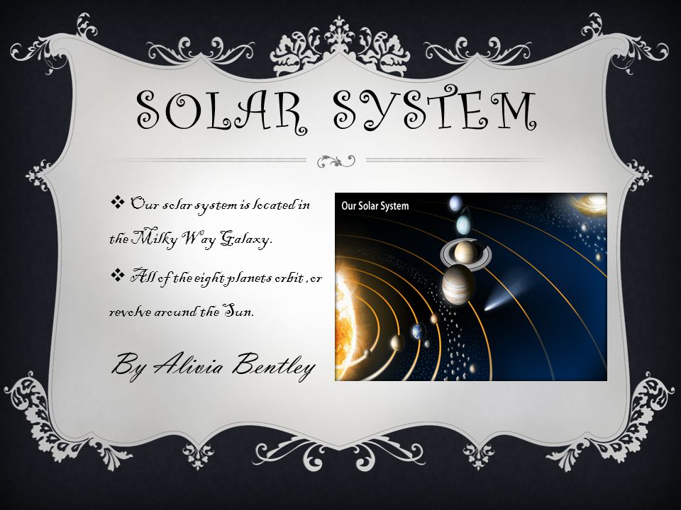 Solar System By Alivia Bentley