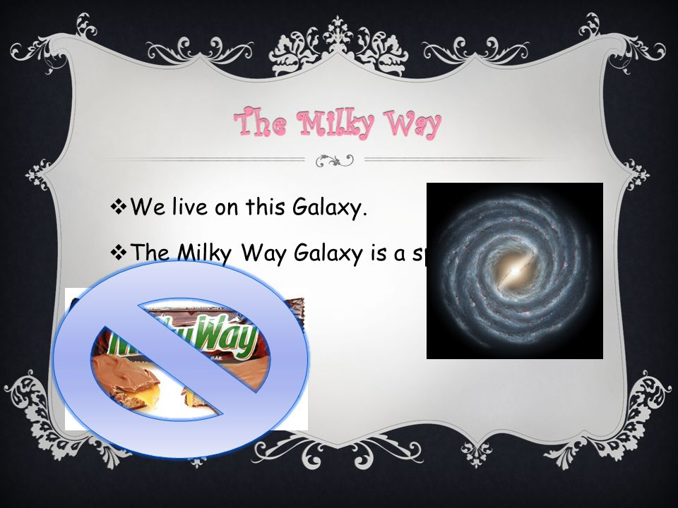 The Milky Way We live on this Galaxy.