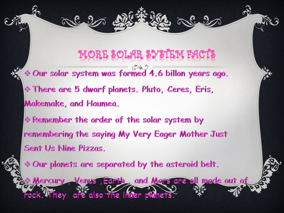 More solar system facts