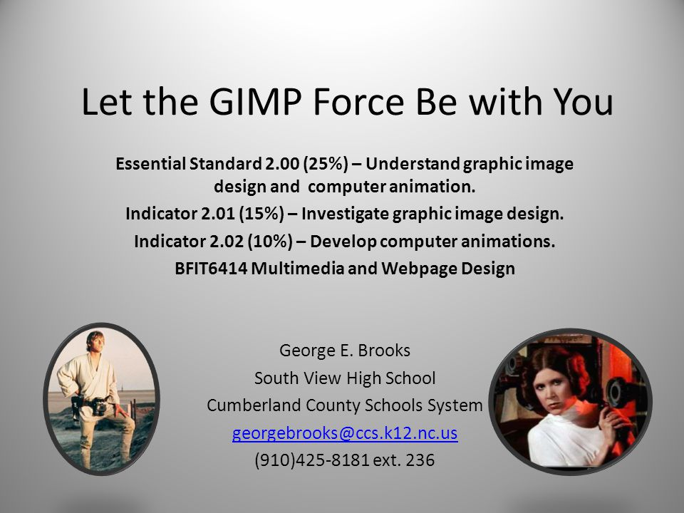 Let the GIMP Force Be with You