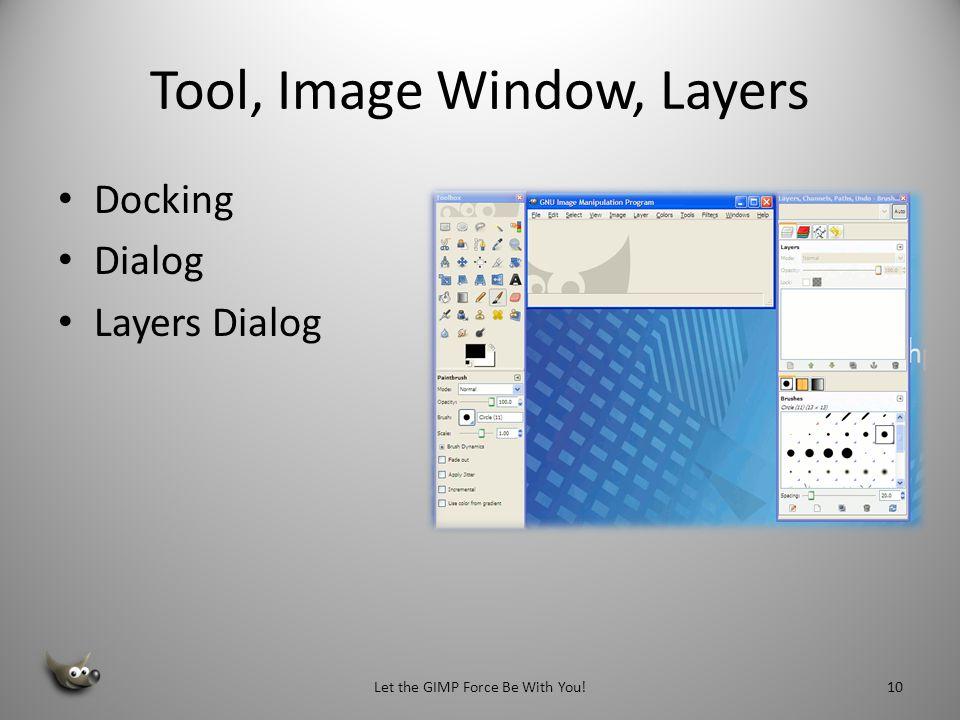 Tool, Image Window, Layers