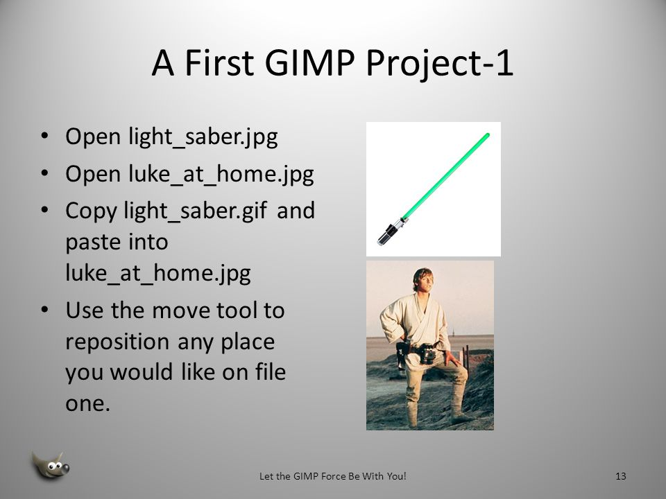 Let the GIMP Force Be With You!
