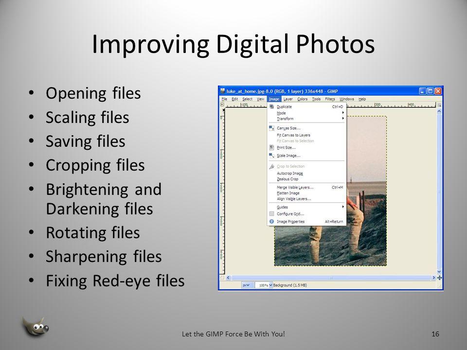 Improving Digital Photos
