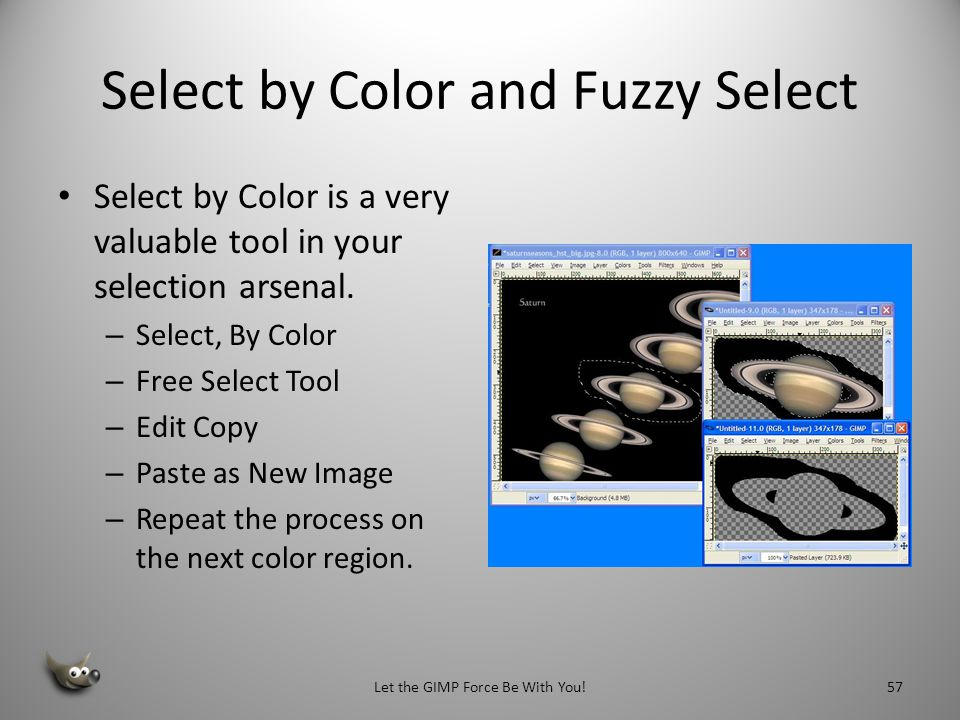Select by Color and Fuzzy Select