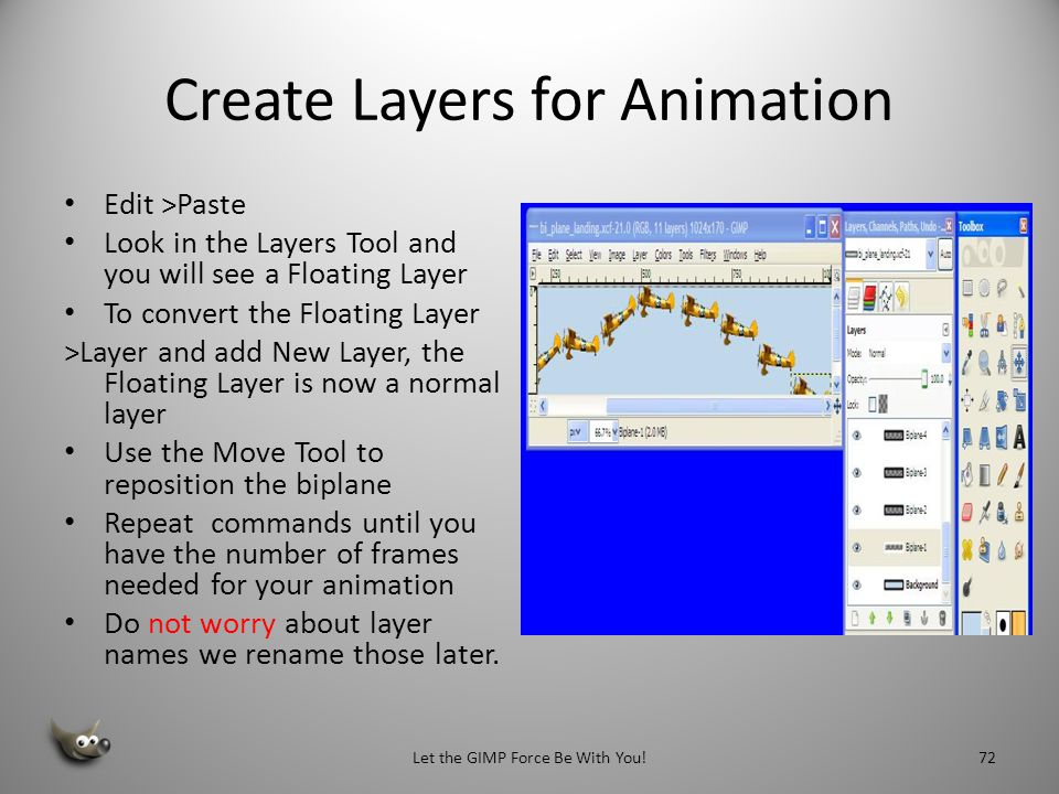 Create Layers for Animation