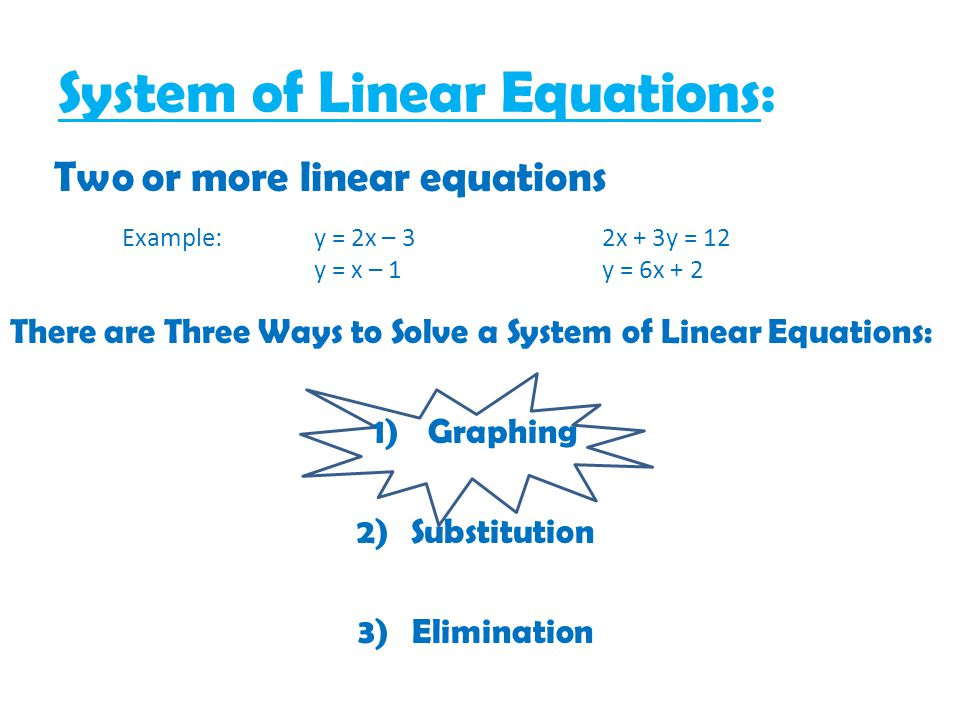 System of Linear Equations: