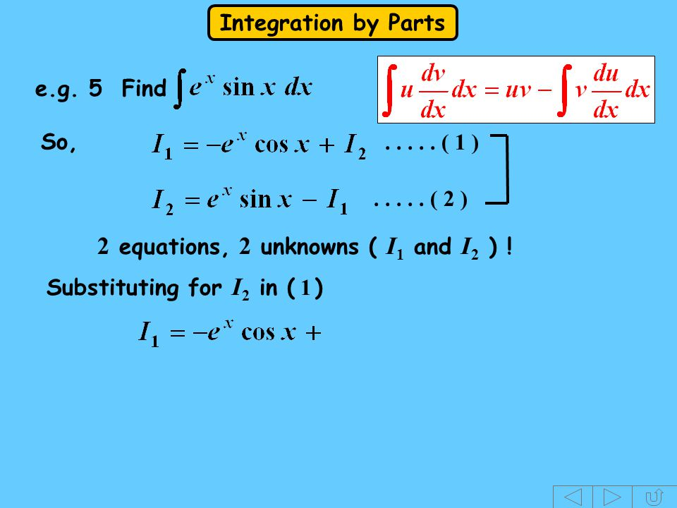 2 equations, 2 unknowns ( I1 and I2 ) !