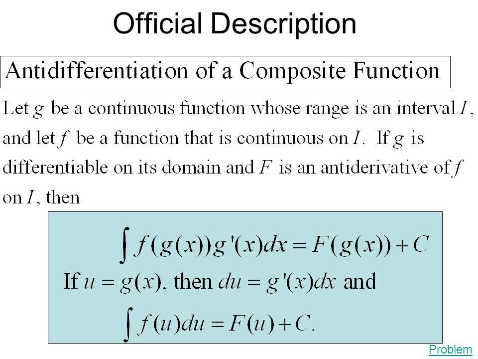 Official Description Problem