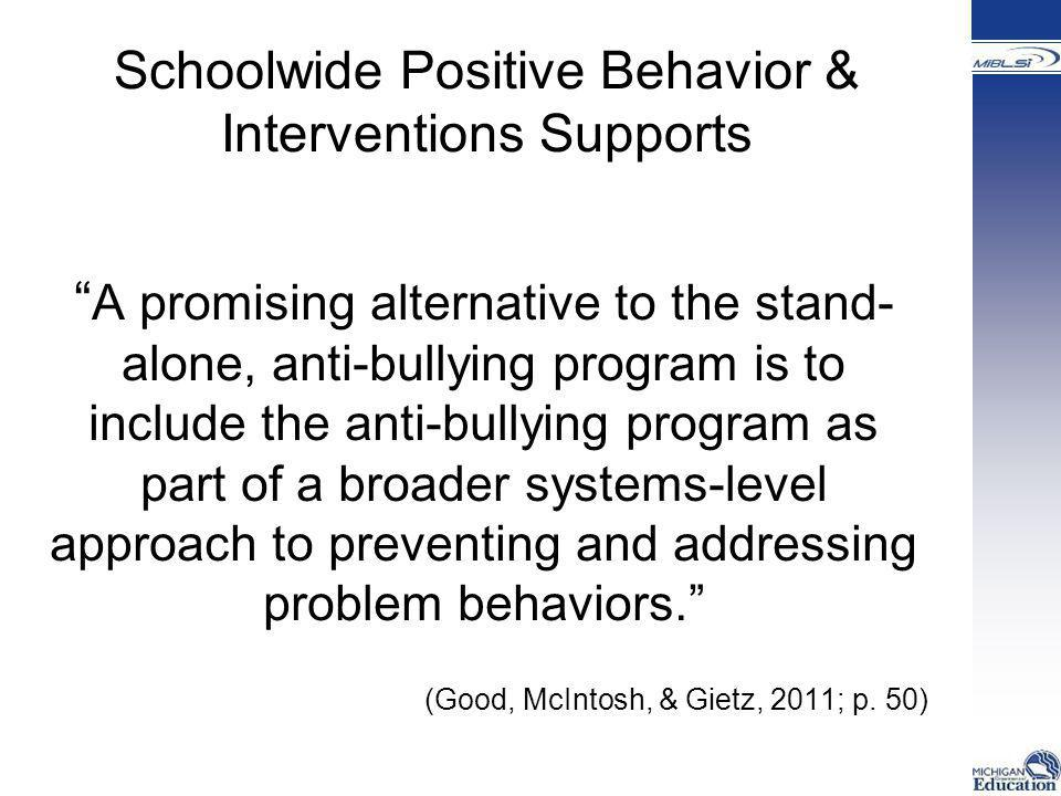 Schoolwide Positive Behavior & Interventions Supports