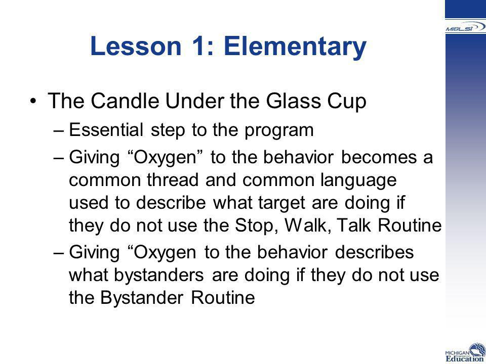 Lesson 1: Elementary The Candle Under the Glass Cup
