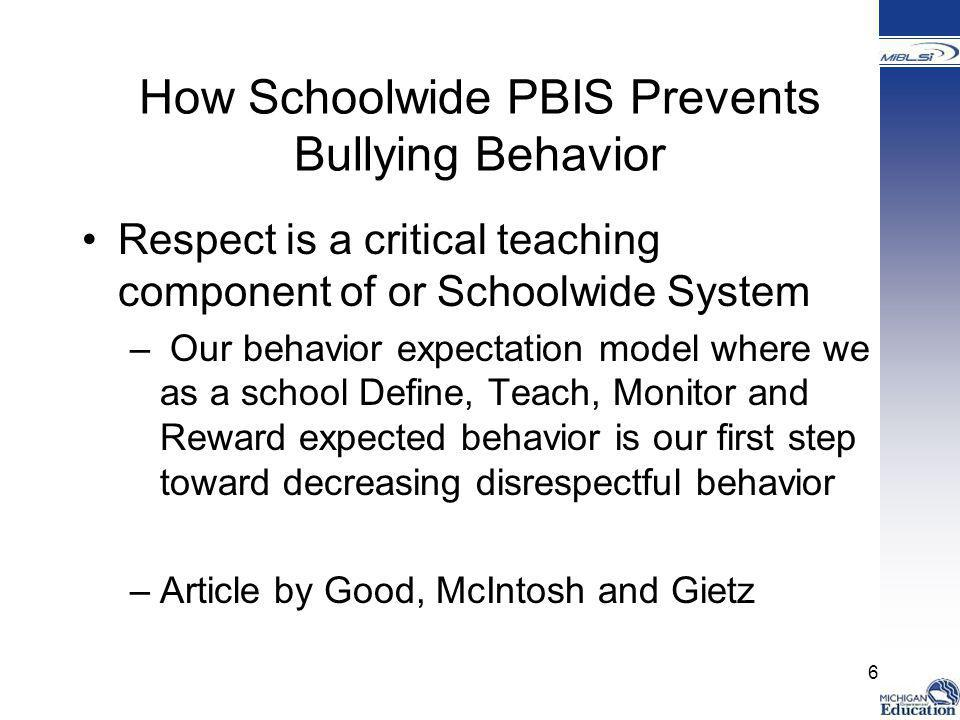 How Schoolwide PBIS Prevents Bullying Behavior