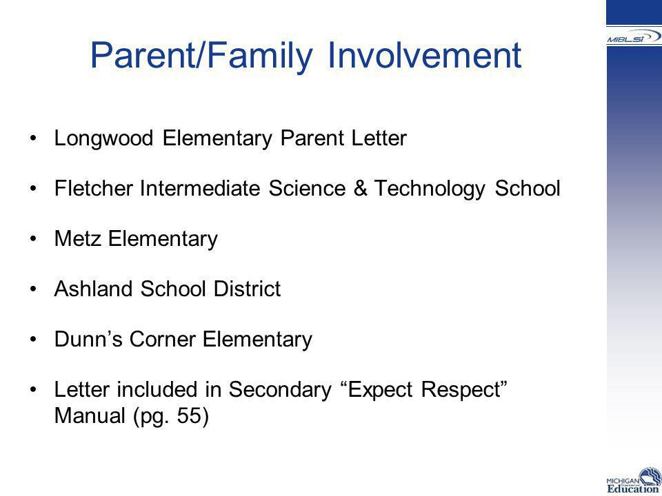 Parent/Family Involvement