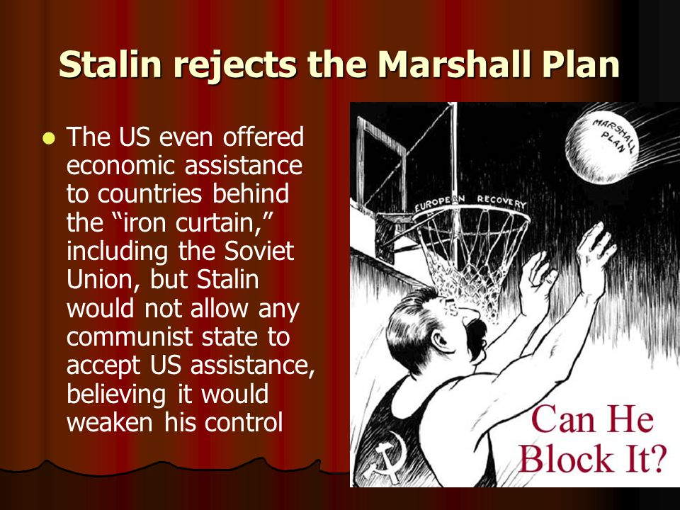 Stalin rejects the Marshall Plan