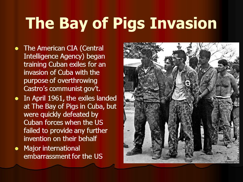 analyzing the failed invasion of cuba at the bay of pigs The bay of pigs invasion was a failed military invasion of cuba undertaken by cuban exiles and sponsored by the us central intelligence agency it dashed all hopes that cuba might stop its slide toward communism.
