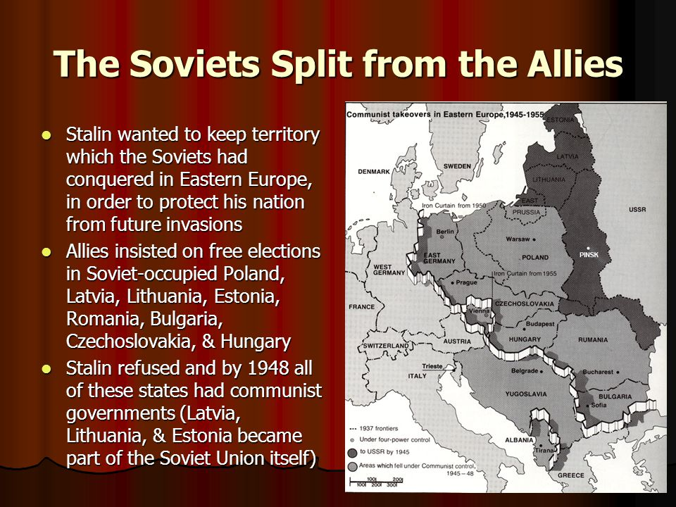 The Soviets Split from the Allies