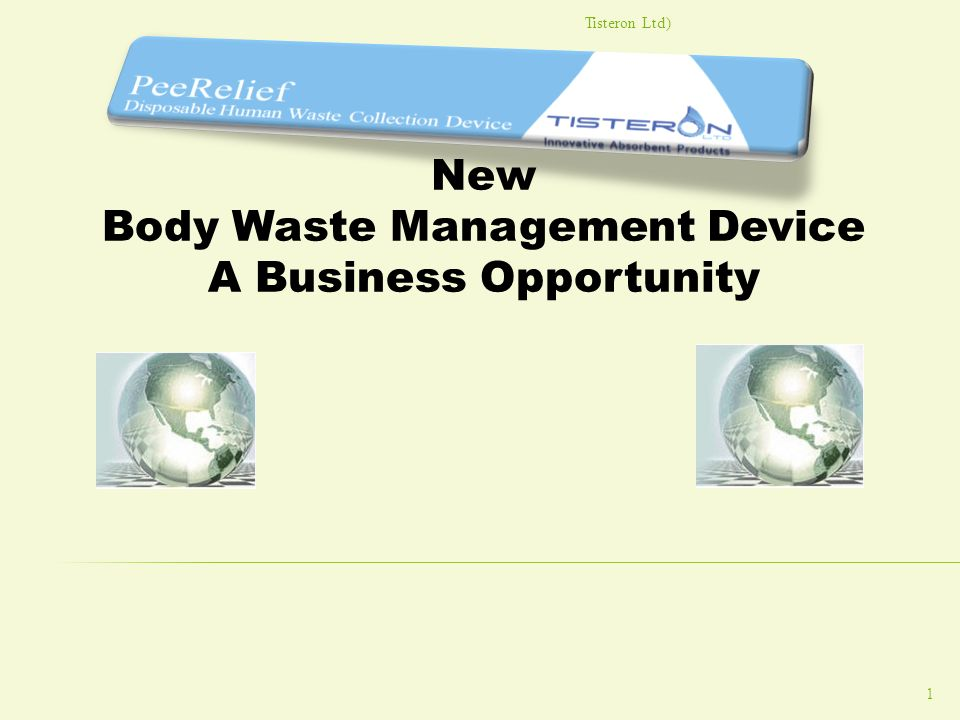 Body Waste Management Device A Business Opportunity