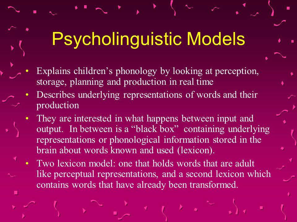 Psycholinguistic Models