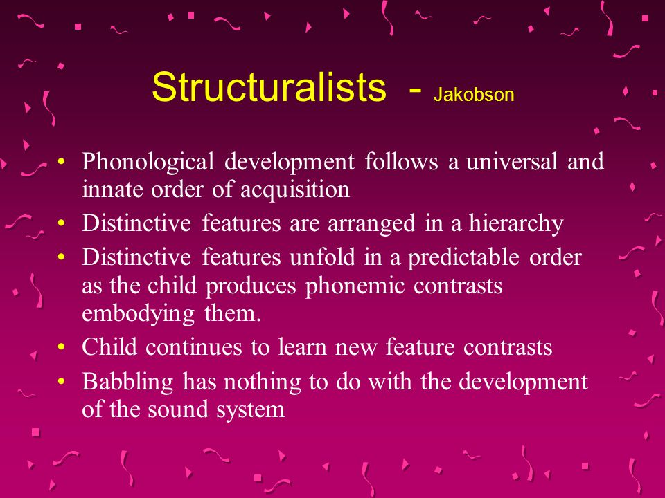 Structuralists - Jakobson