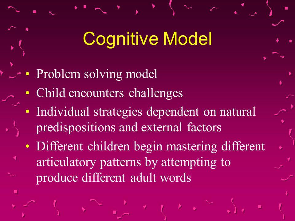 Cognitive Model Problem solving model Child encounters challenges