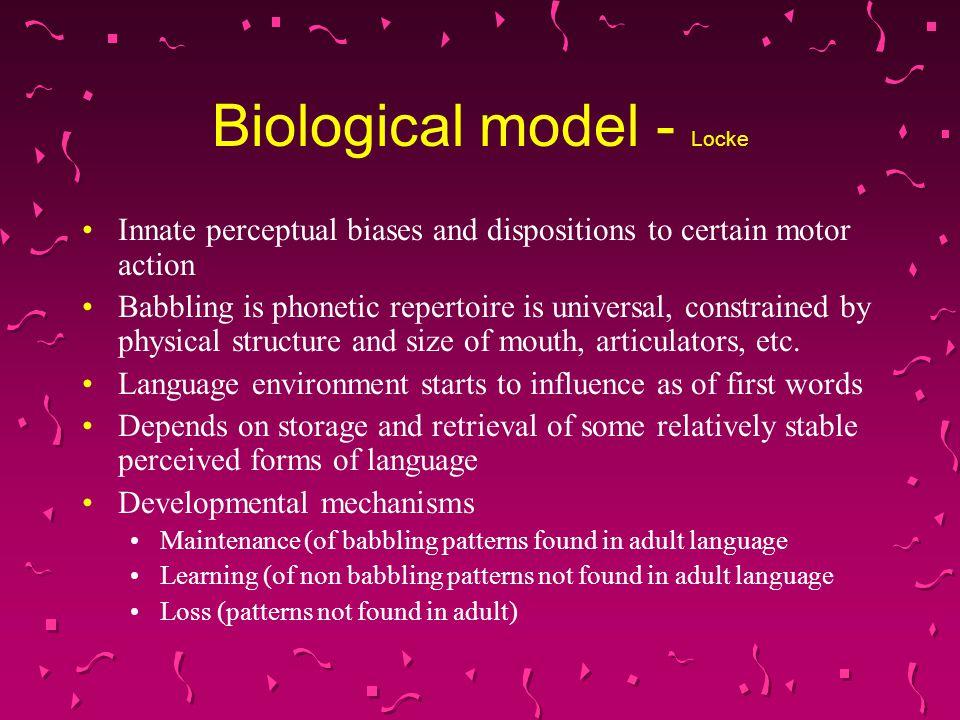 Biological model - Locke