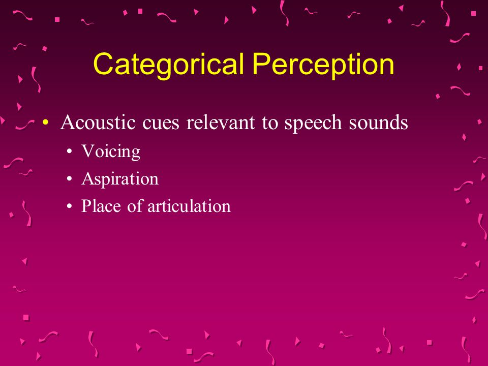 Categorical Perception