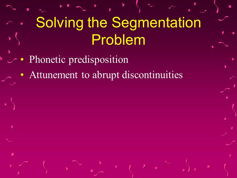 Solving the Segmentation Problem