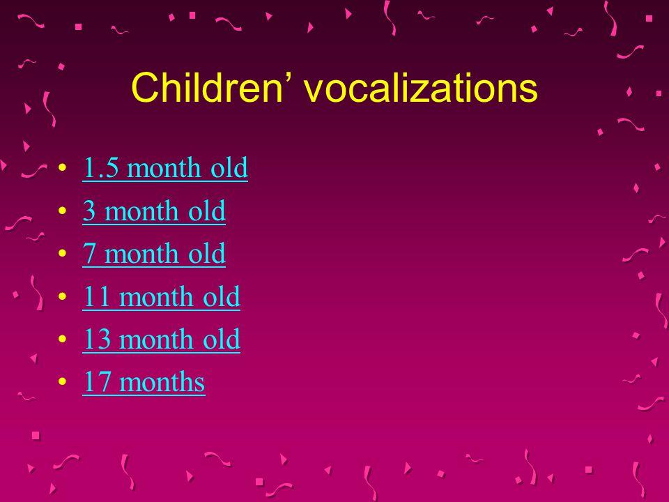Children' vocalizations