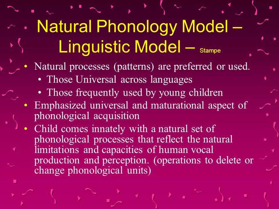 Natural Phonology Model – Linguistic Model – Stampe