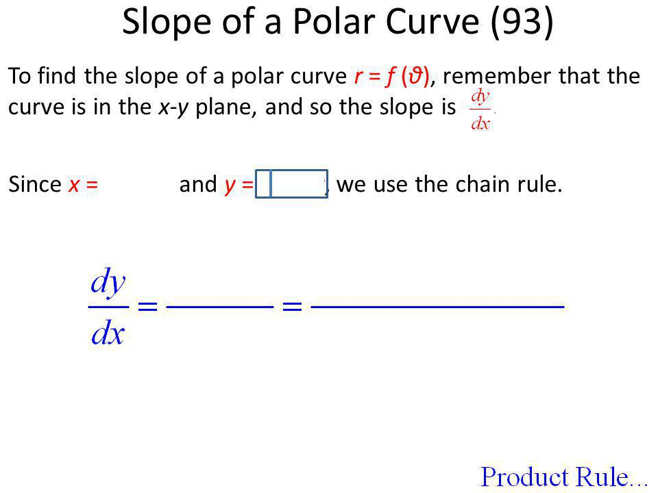 Slope of a Polar Curve (93)