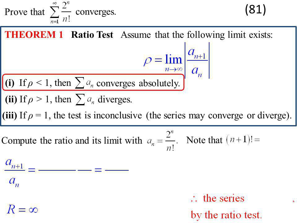 (81) Prove that converges.