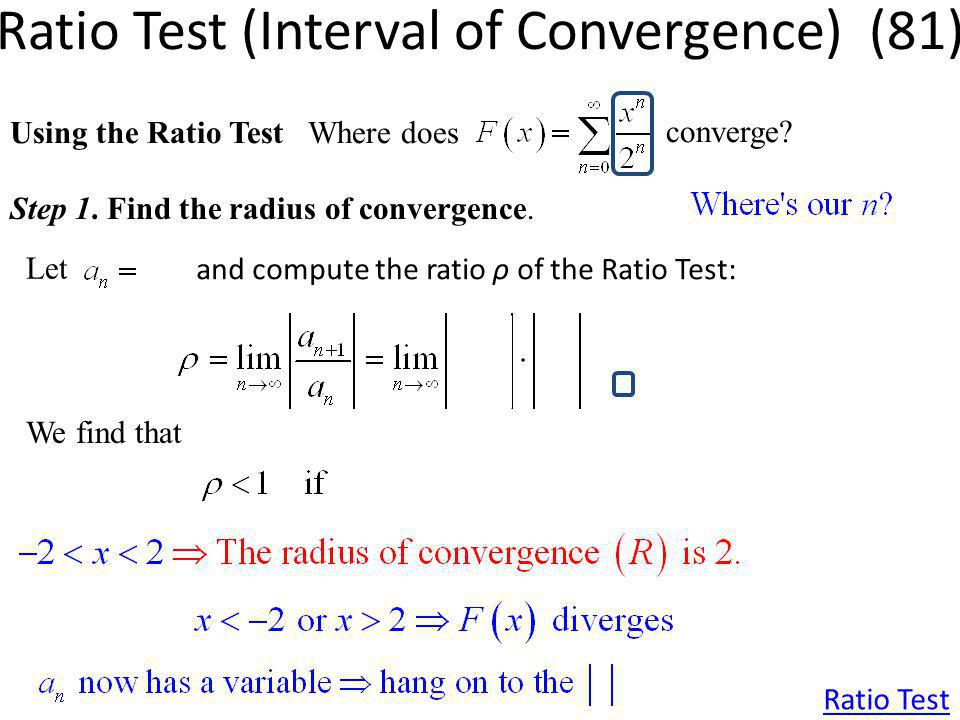 Ratio Test (Interval of Convergence) (81)