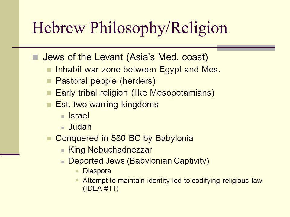 Hebrew Philosophy/Religion