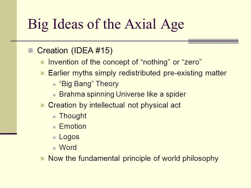Big Ideas of the Axial Age