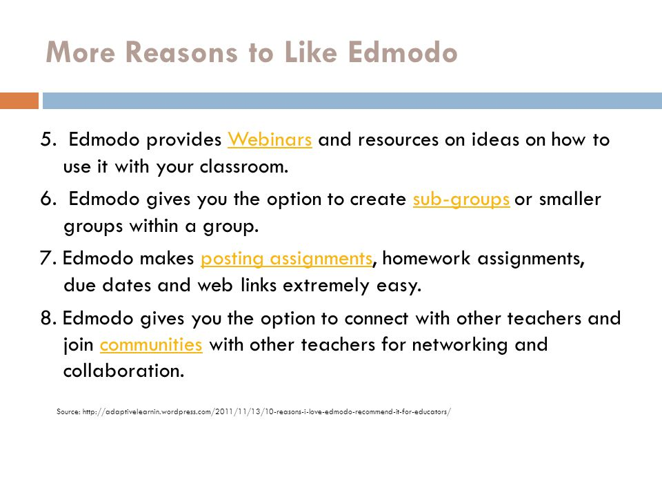More Reasons to Like Edmodo