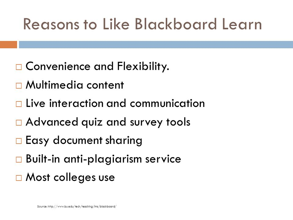 Reasons to Like Blackboard Learn