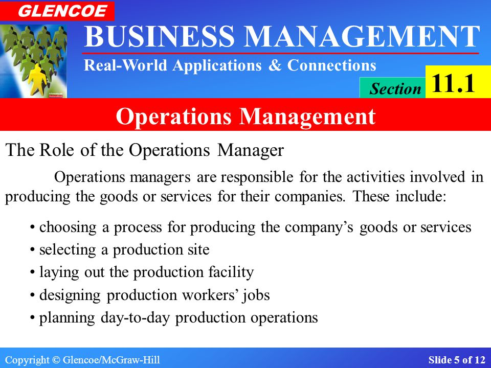 The Role of the Operations Manager
