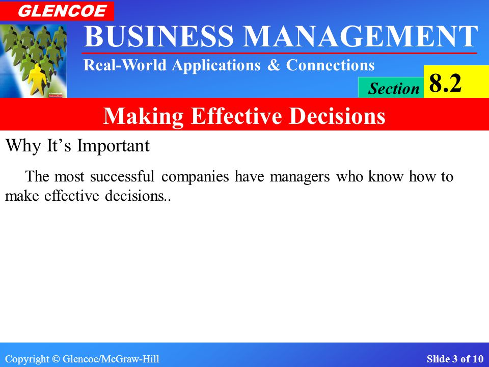 Why It's Important The most successful companies have managers who know how to make effective decisions..