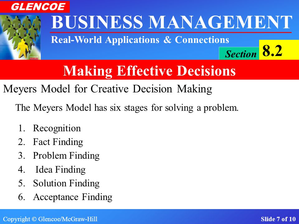 Meyers Model for Creative Decision Making