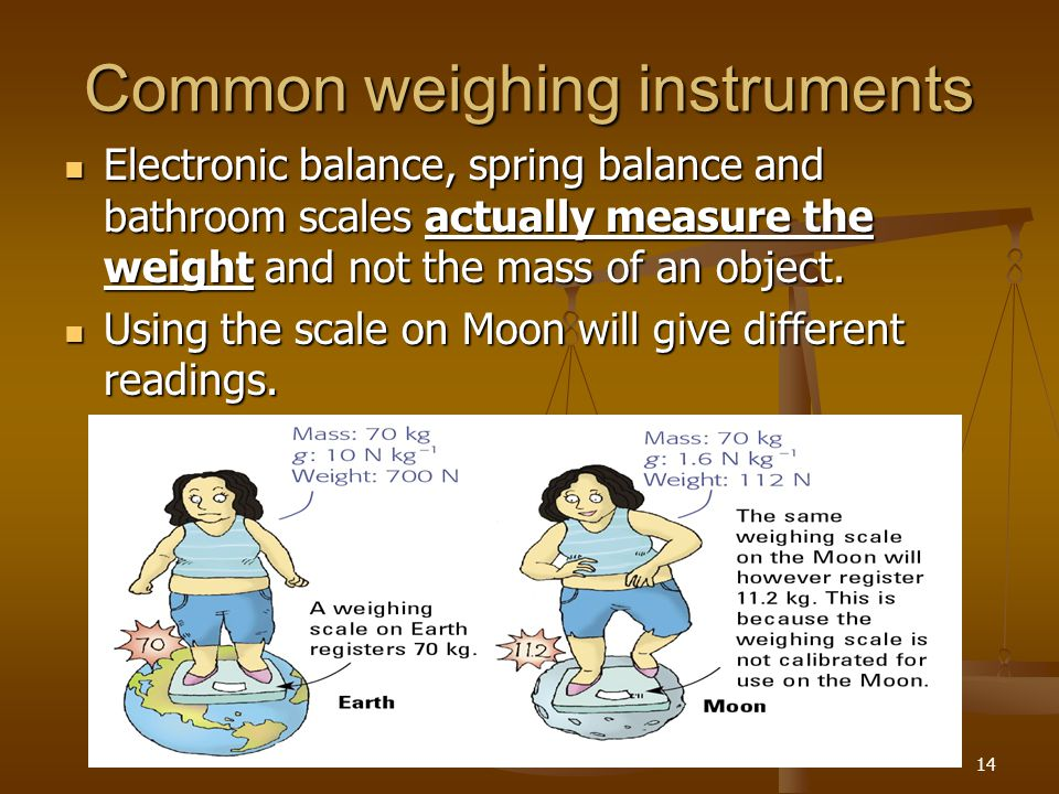 Common weighing instruments