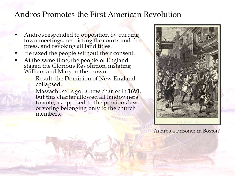 Andros Promotes the First American Revolution